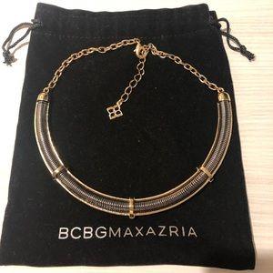 BCBG Collar Necklace Gold & Gunmetal Vintage